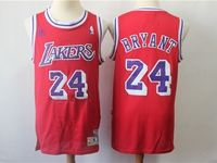 New Mens Nba Los Angeles Lakers #24 Kobe Bryant Red Mitchell&ness Jersey