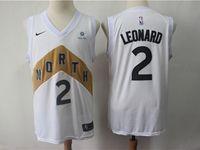 Mens 2018-19 Nba Toronto Raptors #2 Kawhi Leonard White Nike City Edition Jersey