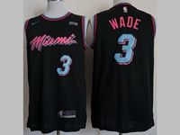 Mens 2018-19 Nba Miami Heat #3 Dwyane Wade Black Nike City Edition Jersey