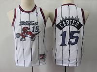 Youth Nba Toronto Raptors #15 Vince Carter White Mitchell&ness Jersey