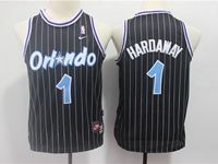 Youth Nba Orlando Magic #1 Penny Hardaway Black Stripe Mitchell&ness Jersey