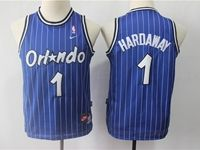 Youth Nba Orlando Magic #1 Penny Hardaway Blue Stripe Mitchell&ness Jersey