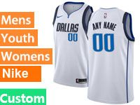 Mens Nba Dallas Mavericks Custom Made White Swingman Nike Jersey