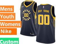 Mens Nba Indiana Pacers Custom Made Blue Swingman Nike Jersey