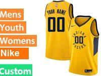 Mens Nba Indiana Pacers Custom Made Gold Swingman Nike Jersey