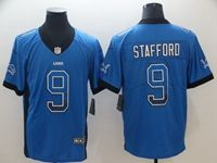 Mens Nfl Detroit Lions #9 Matthew Stafford Blue Drift Fashion Vapor Untouchable Limited Jersey