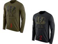 Mens Nfl Cincinnati Bengals Salute To Service Sideline Legend Performance Long Sleeve T-shirt 2 Colors