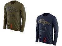 Mens Nfl Denver Broncos Salute To Service Sideline Legend Performance Long Sleeve T-shirt 2 Colors