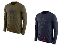 Mens Nfl Dallas Cowboys Salute To Service Sideline Legend Performance Long Sleeve T-shirt 2 Colors