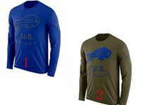 Mens Nfl Buffalo Bills Salute To Service Sideline Legend Performance Long Sleeve T-shirt 2 Colors