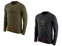 Mens Nfl New Orleans Saints Salute To Service Sideline Legend Performance Long Sleeve T-shirt 2 Colors