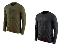 Mens Nfl Atlanta Falcons Salute To Service Sideline Legend Performance Long Sleeve T-shirt 2 Colors