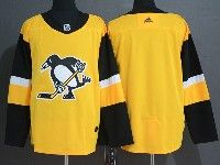 Mens Nhl Pittsburgh Penguins Blank Adidas Yellow Jersey