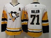 Youth Women Nhl Pittsburgh Penguins #71 Evgeni Malkin White Adidas Jersey