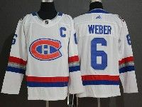 Mens Montreal Canadiens #6 Shea Weber 2017 Nhl 100 Classic Breakaway White Adidas Jersey