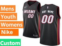 Mens Nba Miami Heat Custom Made Black Miami Nike Swingman Jersey