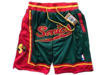 Mens 1995-96 Nba Adidas Seattle Supersonics Green Just Do Pocket Shorts