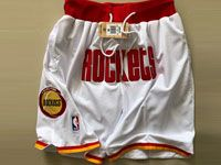 Mens Nba Houston Rockets White Just Do Pocket Shorts
