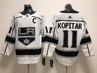Mens Nhl Los Angeles Kings #11 Anze Kopitar White Adidas Jersey