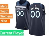 Mens Womens Youth 2017-18 Nba Minnesota Timberwolves Current Player Blue Nike Swingman Jersey