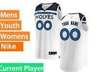 Mens Womens Youth 2017-18 Nba Minnesota Timberwolves Current Player White Nike Swingman Jersey