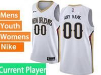 Mens Womens Youth 2017-18 Nba New Orleans Pelicans Current Player White Jerseys