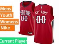 Mens Womens Youth 2017-18 Nba New Orleans Pelicans Current Player Red Jerseys