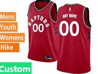 Mens Womens Youth 2018-2019 Nba Toronto Raptors Custom Made Red Nike Swingman Jersey