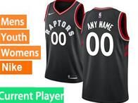 Mens Womens Youth 2018-2019 Nba Toronto Raptors Current Player Black Nike Swingman Jersey
