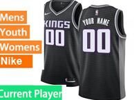 Mens Womens Youth Nba Sacramento Kings Current Player Black Nike Jersey