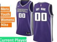 Mens Womens Youth Nba Sacramento Kings Current Player Purple Nike Jersey