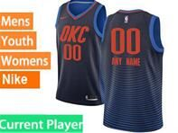 Mens Womens Youth 2017-18 Nba Oklahoma City Thunder Current Player Blue Nike Swingman Jersey