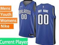 Mens Womens Youth Nba Orlando Magic Current Player Blue Stripe Swingman Jersey