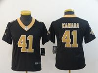 Women Youth Nfl New Orleans Saints #41 Alvin Kamara Black Vapor Untouchable Player Jersey