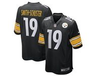 Mens Nfl Pittsburgh Steelers #19 Juju Smith-schuster Black Nike Game Jersey