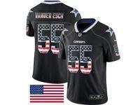 Mens Dallas Cowboys #55 Leighton Vander Esch 2018 Usa Flag Fashion Black Vapor Untouchable Limited Jersey