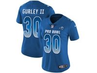 Women Nfl Los Angeles Rams #30 Todd Gurley Ii Blue 2018 Pro Bowl Vapor Untouchable Jersey