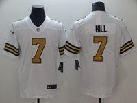Mens Nfl New Orleans Saints #7 Taysom Hill White Color Rush Vapor Untouchable Limited Player Jersey