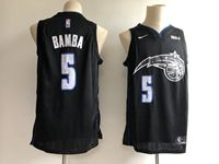 New Mens Nba Orlando Magic #5 Mohamed Bamba Black City Edition Jersey