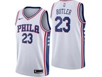 Mens Nba Philadelphia 76ers #23 Jimmy Butler White Swingman Nike Jersey