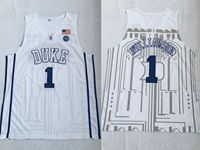 Mens Ncaa Nba Duke Blue Devils #1 Williamson White Jersey
