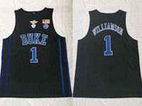Mens Ncaa Nba Duke Blue Devils #1 Williamson Black Jersey