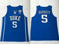 Mens Ncaa Nba Duke Blue Devils #5 Barrett Blue Jersey
