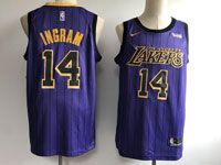 Mens Nba Los Angeles Lakers #14 Brandon Ingram Purple Nike 2019 City Edition Jersey