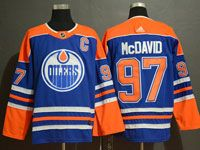 Mens Adidas Nhl Edmonton Oilers #97 Connor Mcdavid Royal Blue Alternate Jersey