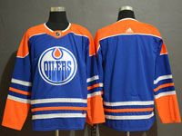 Mens Adidas Nhl Edmonton Oilers Blank Royal Blue Alternate Jersey
