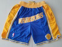 Mens Nba Golden State Warriors Blue Nike Just Do Pocket Shorts