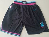 Nba Nike Miami Heat Black 2019 City Edition Shorts