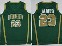 Mens Ncaa Nba Notre Dame Fighting Irish #23 Lebron James (irish) Olive Green Jersey