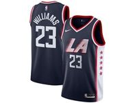 Mens 2018-19 Nba Los Angeles Clippers #23 Lou Williams Navy Blue City Edition Swingman Jersey